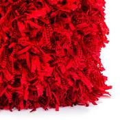 Povlak na polštářek Shaggy červená, 45 x 45 cm