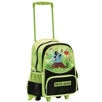 Bino Plecak dla dzieci na kółkach z Krecikiem, zielony