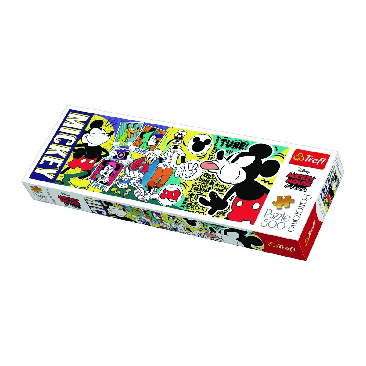 Trefl Panoramatické puzzle Legendárny Myšiak Mickey, 500 dielikov