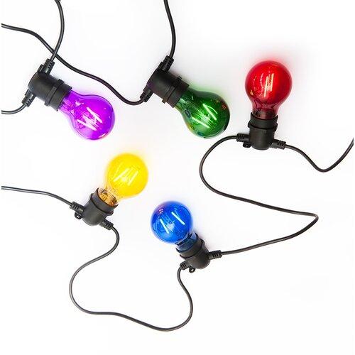 Exihand LO-3455 párty řetěz s 10 barevnými žárovkami, 8,4 m