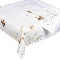 Pillangók abrosz, bézs, 35 x 35 cm