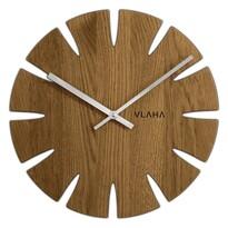 Vlaha VCT1014 Zegar dębowy, śr. 32,5 cm, srebrny