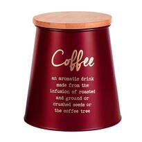 Altom Dóza s bambusovým vekom na kávu, červená