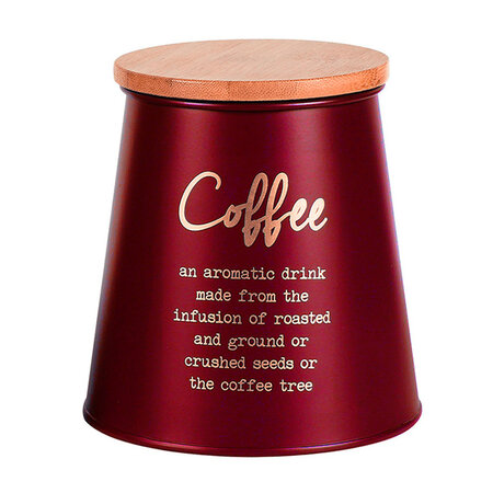 Altom Dóza s bambusovým víkem na kávu, červená