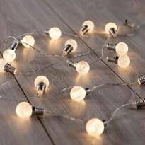 DecoKing Světelný řetěz Kuličky teplá bílá, 20 LED