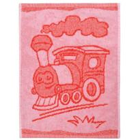 Ręcznik dziecięcy Train red, 30 x 50 cm
