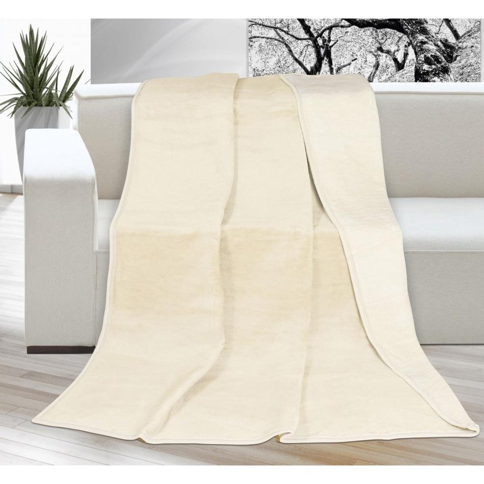 Bellatex Deka XXL / Prehoz na posteľ Kira svetlobéžová, 200 x 230 cm