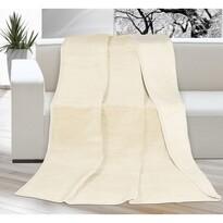 Koc XXL / Narzuta na łóżko Kira jasnobeżowy, 200 x 230 cm