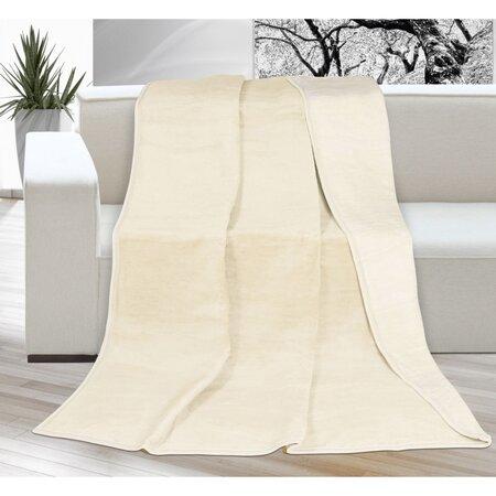 Deka XXL / Prehoz na posteľ Kira svetlobéžová,200 x 230 cm