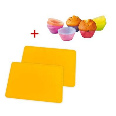 4Home Sada silikonových podložek na pečení a silikonových košíčků