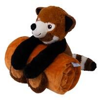 Pătură de copii Carol, cu jucărie din pluș ursuleț, 85 x 100 cm