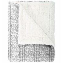 Mistral Home Koc z barankiem Cable knit szary, 150 x 200 cm