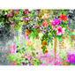 Fototapeta XXL Květinová zahrada 360 x 270 cm , 4 díly