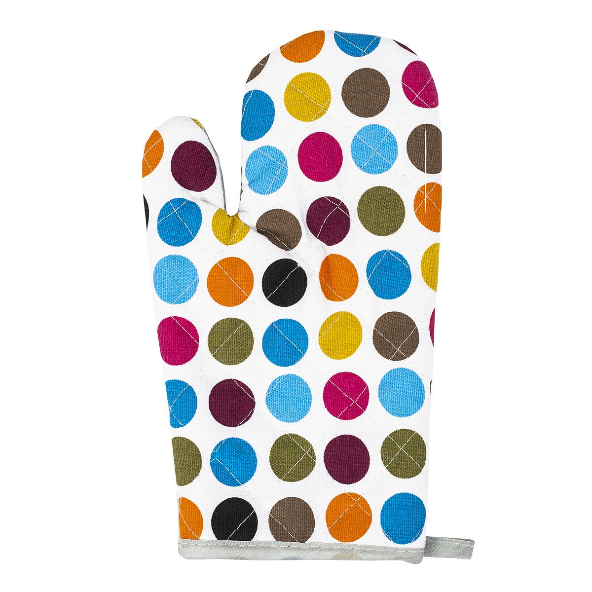 Poza Manusa bucatarie colorata cu buline, 28 x 18 cm