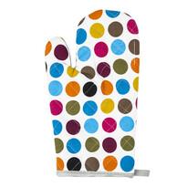 Mănușă bucătărie colorată cu buline, 28 x 18 cm