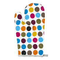 Rękawica kuchenna Kropki kolorowa, 28 x 18 cm