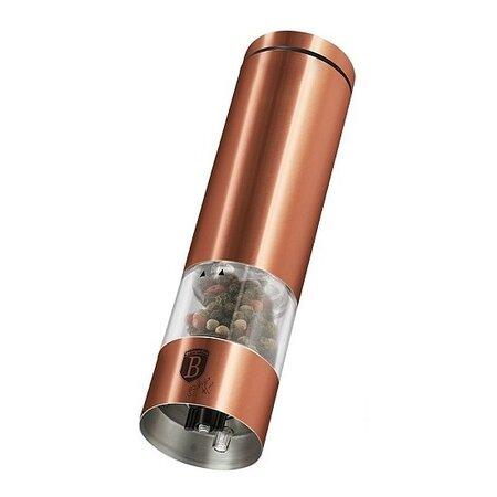 Berlinger Haus Elektrický mlynček na soľ a korenie Rosegold Metallic Line