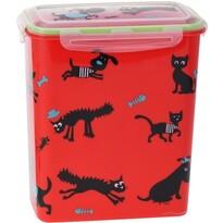Úložný box na zvieracie krmivo Cane, červená