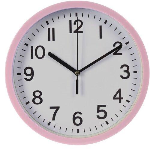 Nástenné hodiny Mackay ružová, 22,5 cm