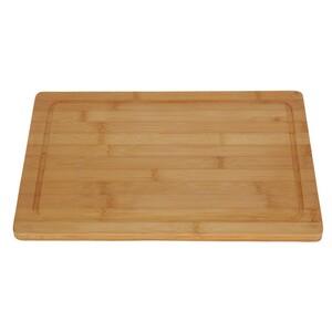 Excellent Dřevěné prkénko Bamboo s drážkou 37 x 25 x 2 cm