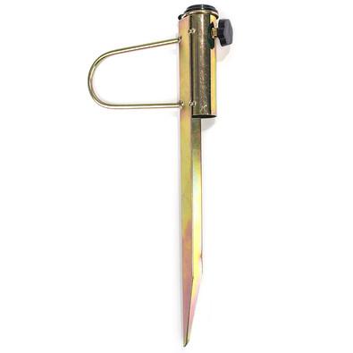 Metalowy uchwyt do parasola ogrodowego