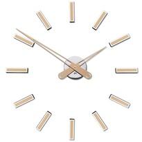 Future Time FT9600CM Modular champagne Designové samolepiace hodiny, pr. 60 cm