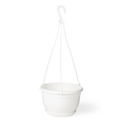 Plastový květináč Malta 21 cm, bílá