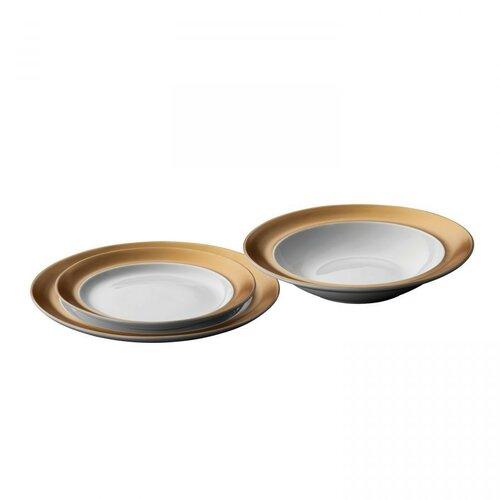 BergHOFF 3-dielna sada porcelánových tanierov GEM, biela