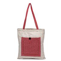 Heda bevásárlótáska, piros/bézs, 40 x 45 cm