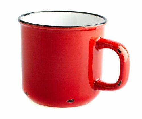 Porcelánový hrnek 440 ml, červená