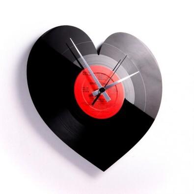 Discoclock Heart 004 nástěnné hodiny