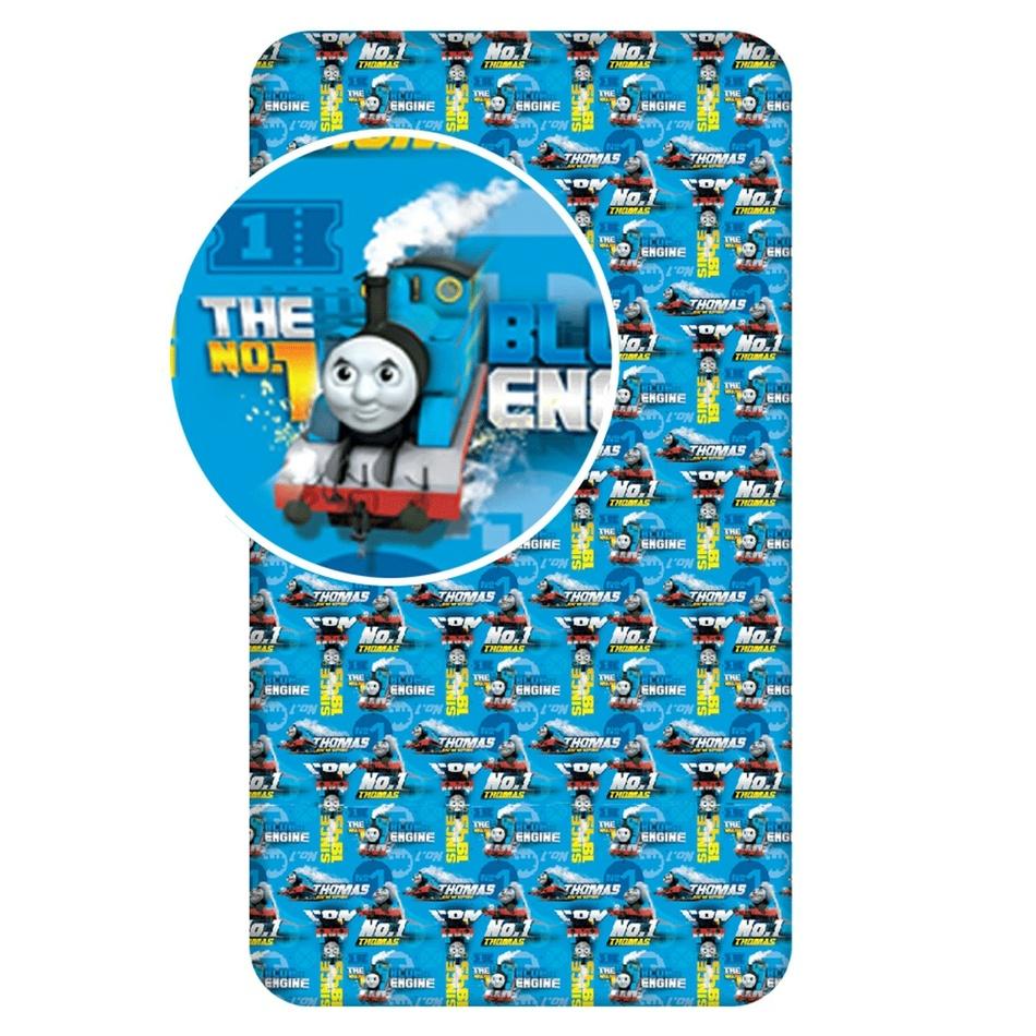 Lenjerie de pat din bumbac pentru copii Maşina Thomas blue, 90 x 200 cm imagine 2021 e4home.ro