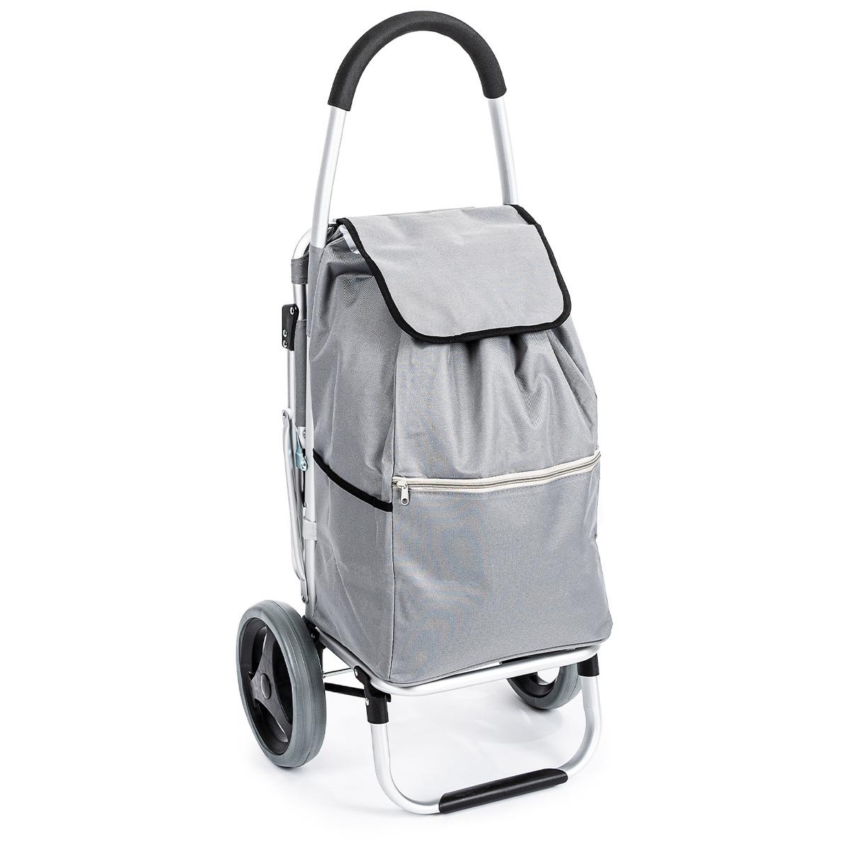 Aldo Nákupná taška na kolieskach so sedátkom Comfort, sivá