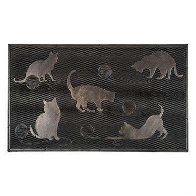 Venkovní rohožka Kočky, 45 x 75 cm