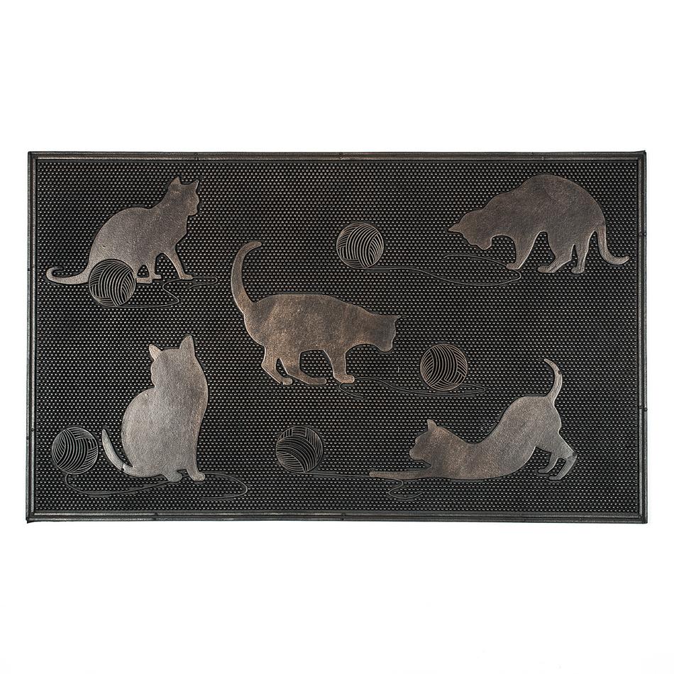 BO-MA Trading Vonkajšia rohožka Mačky, 45 x 75 cm