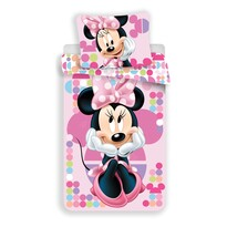 Lenjerie de pat pentru copii Minnie pink 03, 140 x 200 cm, 70 x 90 cm