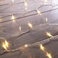 DecoKing Svetelná vianočná reťaz rozšírená teplá biela, 200 LED