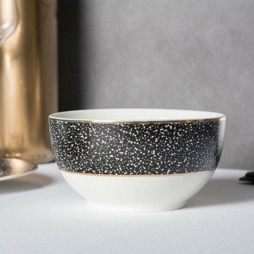 Altom Porcelánová miska Granit 12,5 cm, čierna