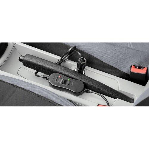 Compass Vyhřívaný potah sedadla s termostatem Ladder šedá, 12 V