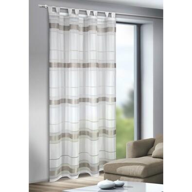 Záclona s poutky Mandy stříbrná, 135 x 245 cm
