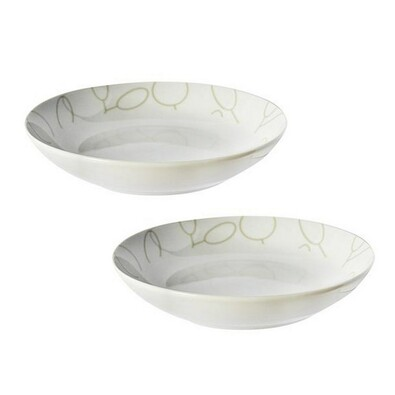 2dílná sada polévkových talířů s motivem