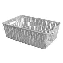 Košík RATTAN CLASSIC 12 l, sivá