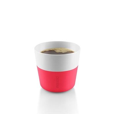 Hrnek na kávu lungo 230 ml růžový, sada 2 ks
