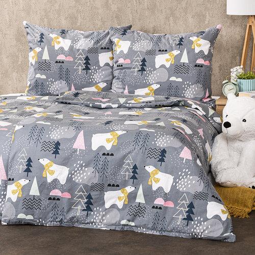 4Home Flanelové obliečky Nordic Bear , 140 x 200 cm, 70 x 90 cm
