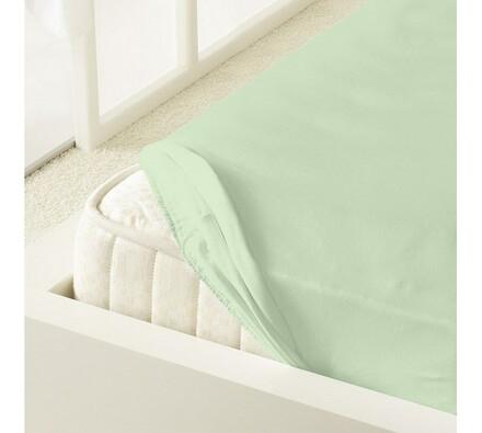 Kleine Wolke prostěradlo mako jersey, zelená, 90 x 200 cm