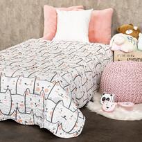 4Home Dětský přehoz na postel Kočky, 150 x 200 cm