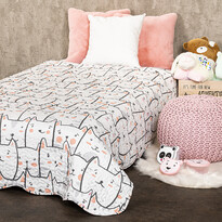 4home Detský prehoz na posteľ Mačky, 140 x 200 cm