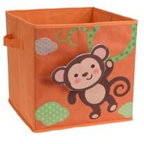 Pudełko do przechowywania dla dzieci Małpa, 32 x 32 x 30 cm