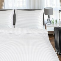 Lenjerie de pat de hotel din bumbac, albă, 140 x 200, 70 x 90 cm
