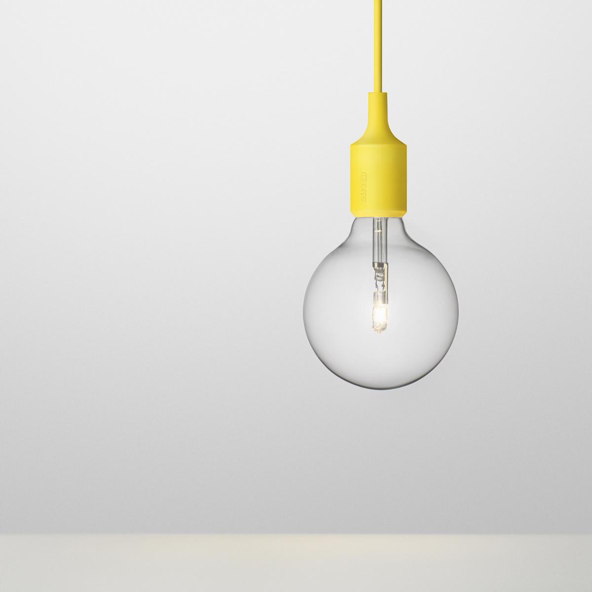 Závesné svietidlo E27, žlté